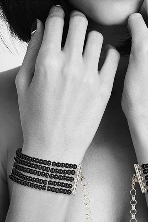Menottes Perles nacrées noires