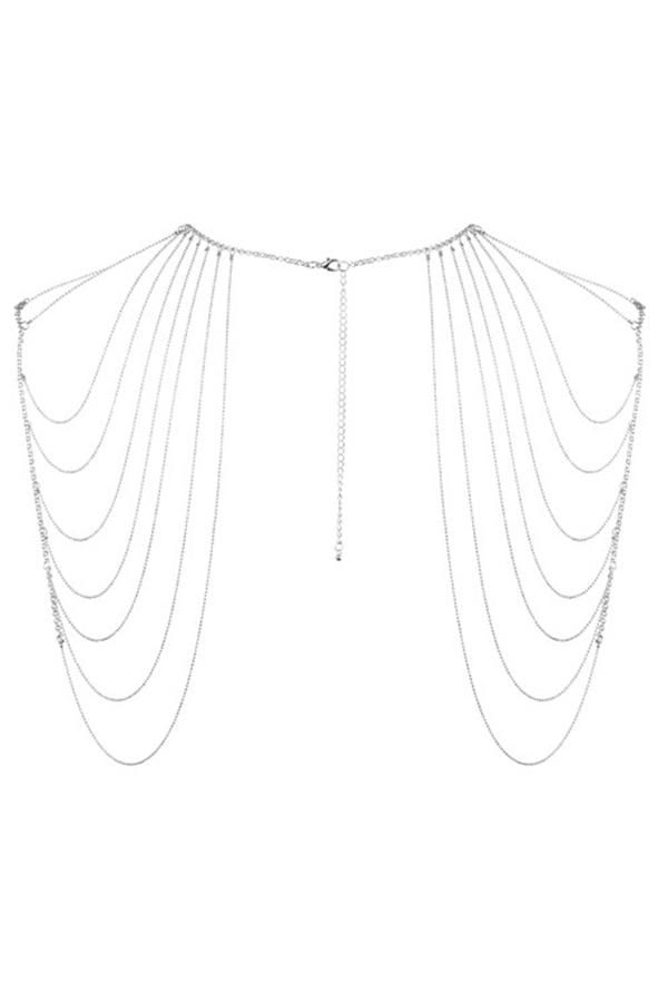 Bijou épaules & dos métallique argenté
