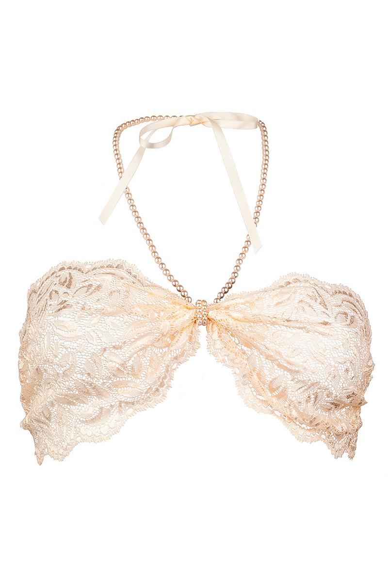 Soutien-gorge perles Top ivoire