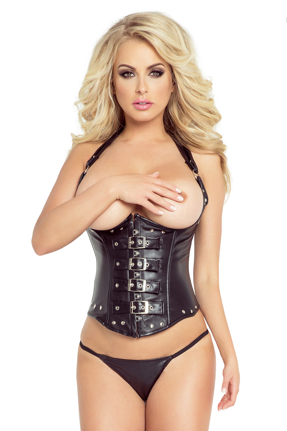 Corset ouvert Black Leather