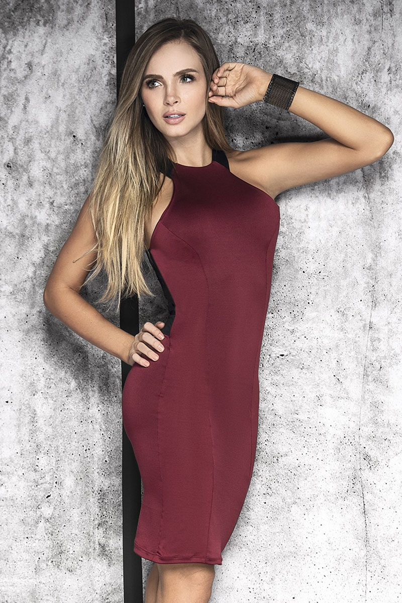 Robe bordeaux 4466