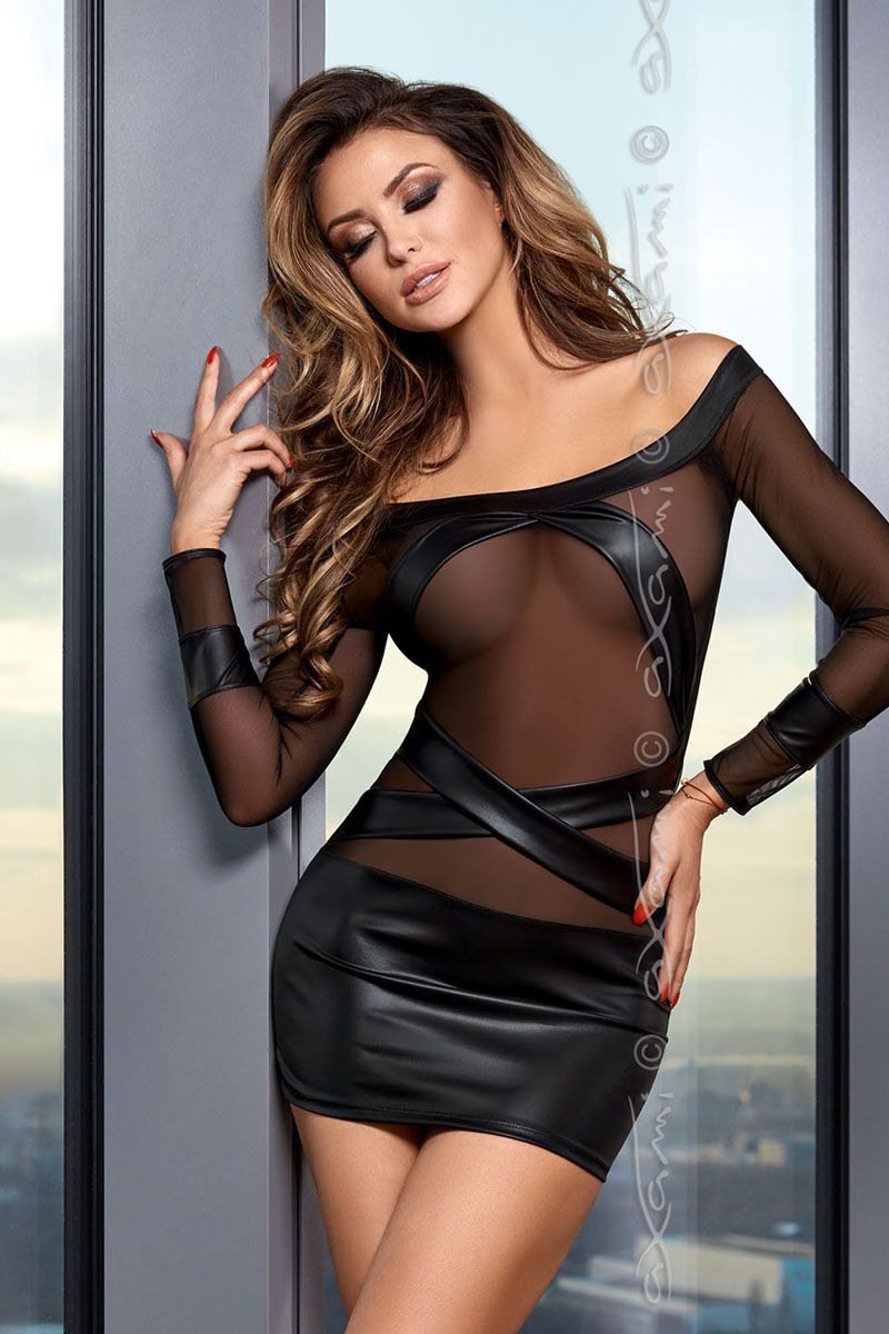 Robe wetlook V-8419