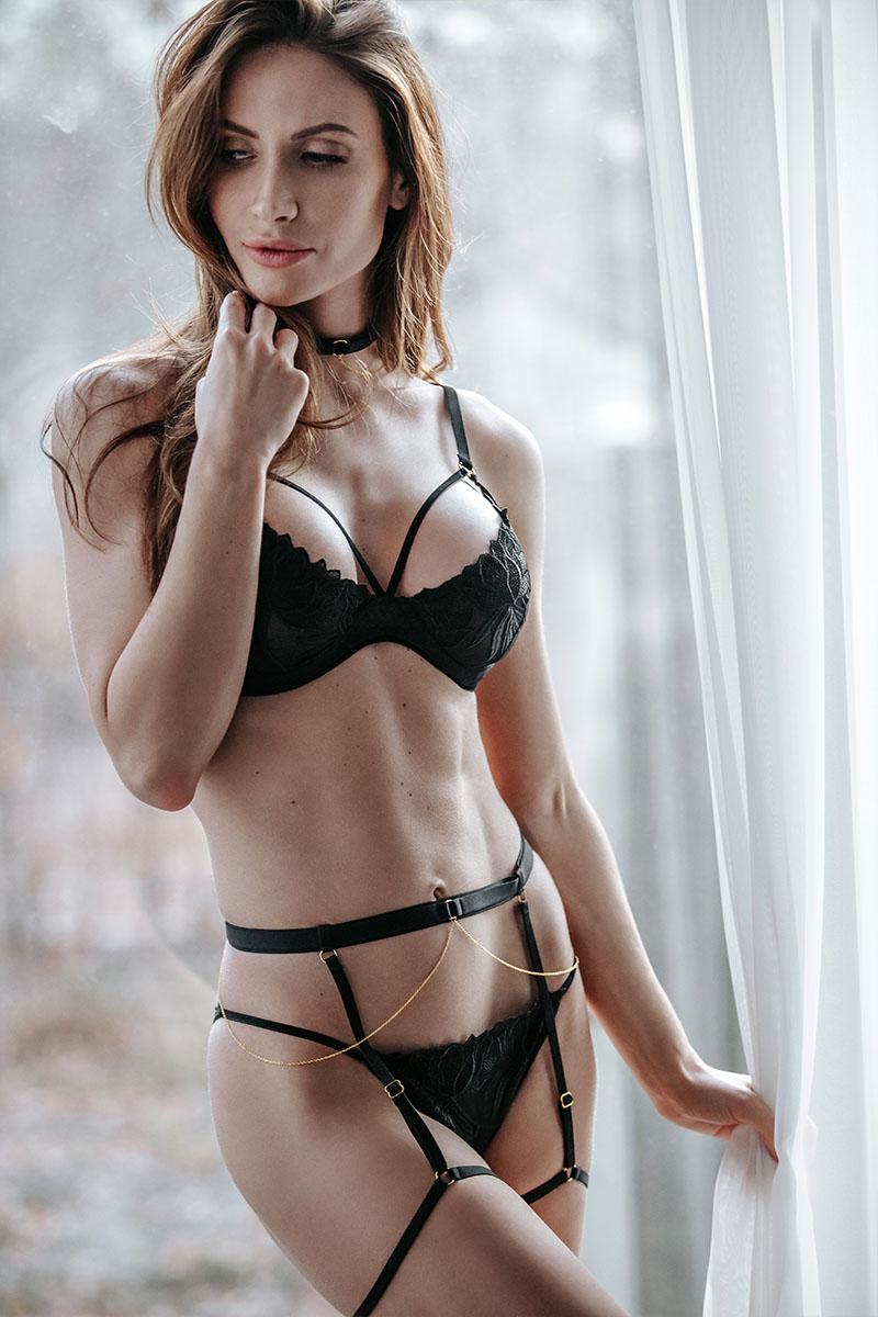 Culotte brodée Noir