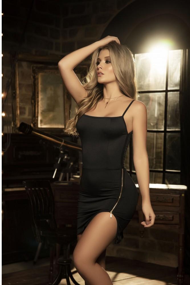 Robe noire zip 4526