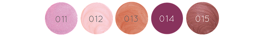 5 couleurs de gloss