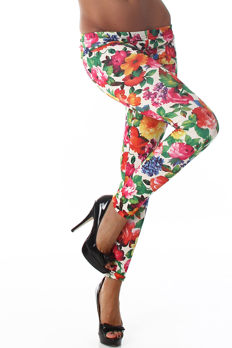 Legging fleurs #016