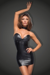 Robe bustier wetlook F172