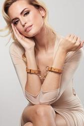 Menottes bracelets Maze marron