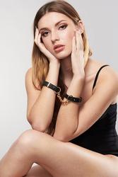 Menottes bracelets Maze noirs