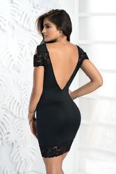 Robe dos-nu noire 4478