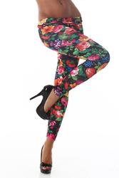 Legging fleurs #017