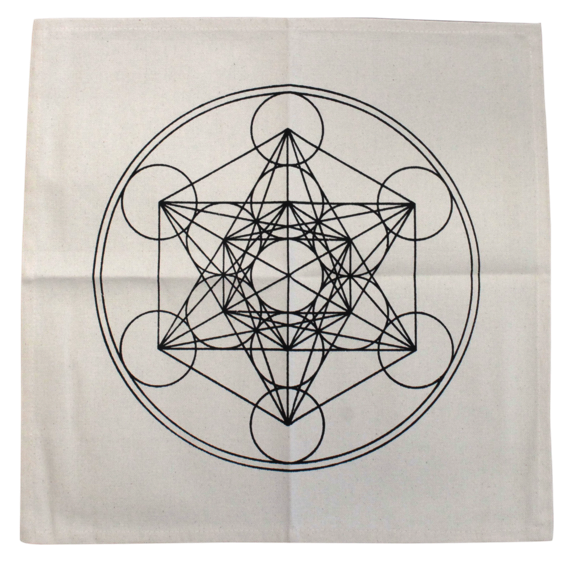Sacred Geometry Archange Metatron pendentif médaillon Metatron Cube Collier