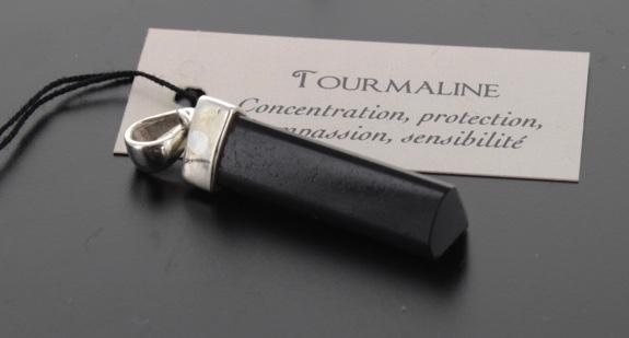 Pendentif Argent Pointe Tourmaline