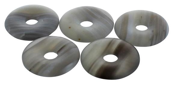 Pi Chinois Agate Rubanée semi poli 30 mm