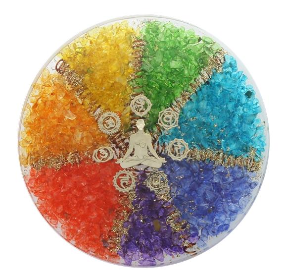 Sous verre Orgonite 7 Chakras