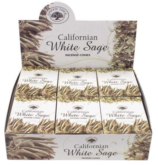 Encens Green Tree White Sage Cones 15 grammes