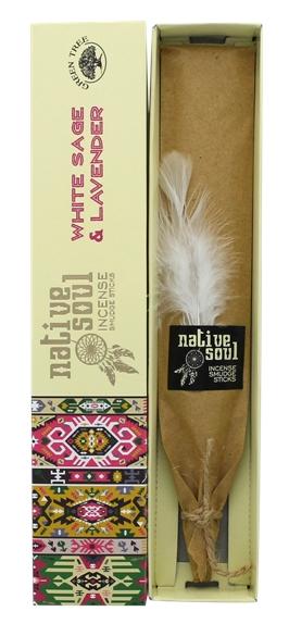 Encens Green Tree Native Soul Sauge Blanche & Lavande - 15 grs