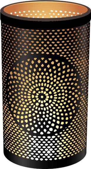 Photophore Rond Mandala - 17 x 30 cm