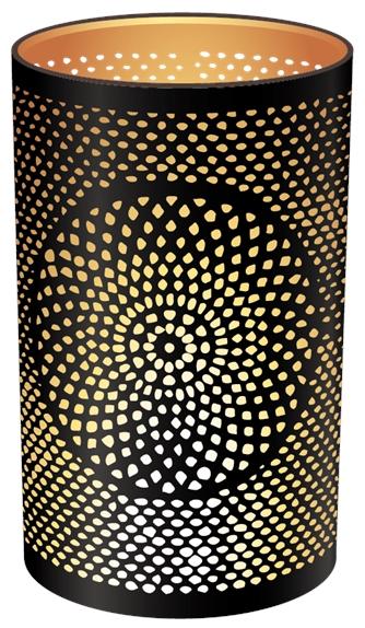 Photophore Rond Mandala - 10 x 15 cm