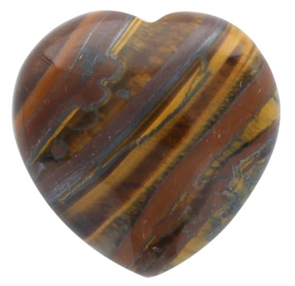 Coeur Oeil de Tigre - 4,5 cm