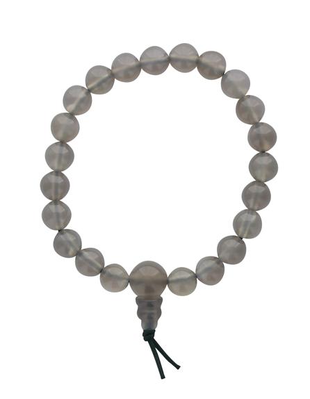 68981-Bracelet Mala en Agate Grise