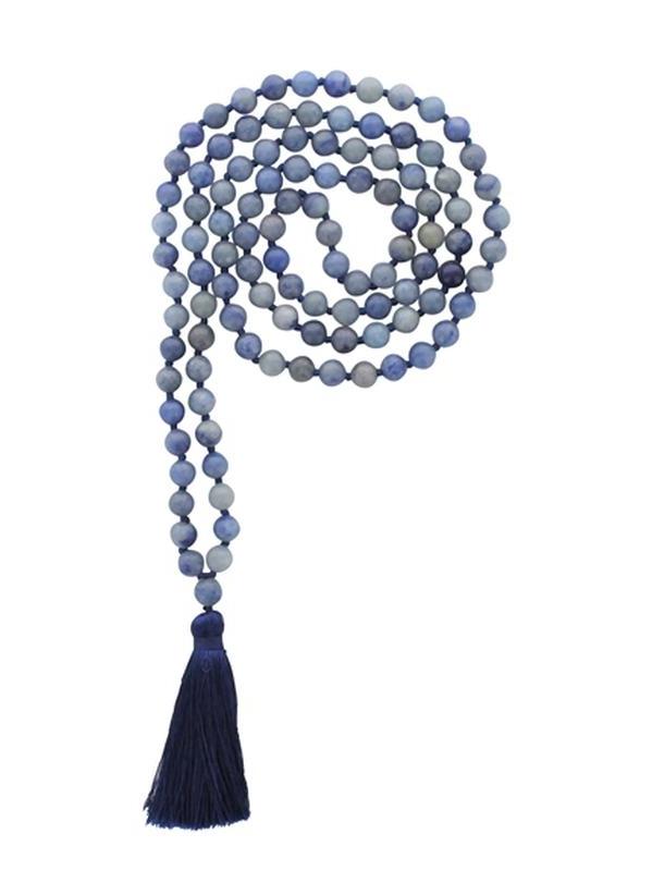 Mala en Quartz Bleu 108 perles