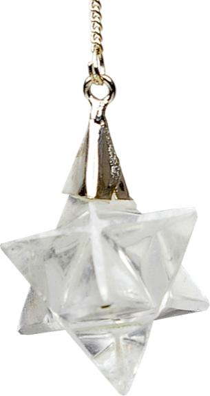 Pendule Merkaba Cristal de Roche