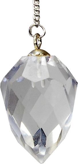 Pendule Goutte à Facettes Cristal de Roche