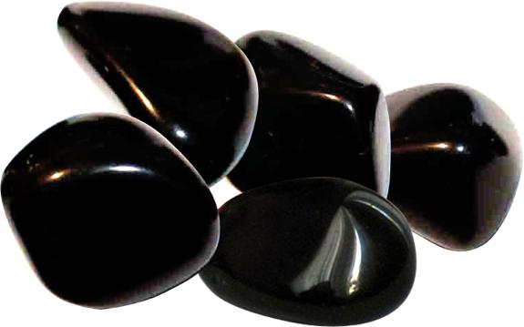 Pierres Roulées Obsidienne Noire - Sachet 500 grs