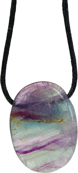 Pendentif Pierre Ovale Fluorite