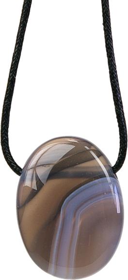 Pendentif Pierre Ovale - Agate Rubanée