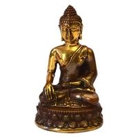 Statue Bouddha Thai Qualité Bronze Antique Doré