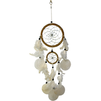 Dreamcatcher Plume Naturel - Longueur 48 cm