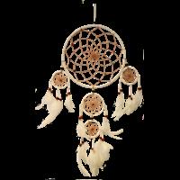 Dreamcatcher Blanc et Perles Colorées - Diamètre 22 cm