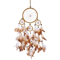 Dreamcatcher 4 Cercles Marron