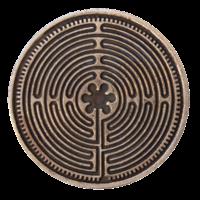 Pièce Sacrée Labyrinthe de Chartres Cuivre 4 cm