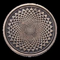 Pièce Sacrée Chakra Sahasrara Cuivre 4 cm