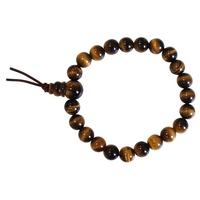 Bracelet Chapelet Oeil de Tigre Perles 8 mm - Lot de 3