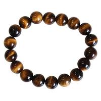 Bracelet Perles Rondes Oeil de Tigre - 10mm