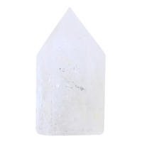 Pointe Polie Hexagonale Cristal de Roche - 3,5 cm - Lot de 3