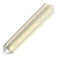 Pointe Hexagonale Biterminée Cristal de Roche 3 cm - Lot de 5