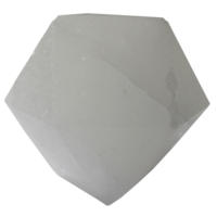 Lampe LED Diamant en Cristal de Sel Blanc