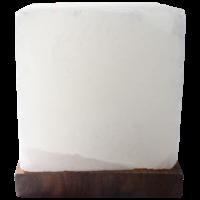 Lampe Cube en Cristal de Sel Blanc