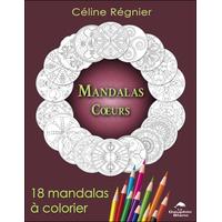 Mandalas Coeurs - 18 Mandalas à Colorier - Céline Régnier