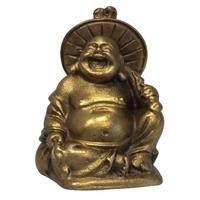 Bouddha Métal Assis sous une Ombrelle - Energie, Méditation
