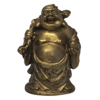 Bouddha Métal avec un Baluchon sur son Dos - Voyage