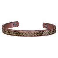 Bracelet Magnétique Cuivre Avec Décoration Laiton - Modèle 2