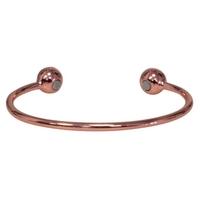 Bracelet Magnétique Cuivre - Jonc Avec Boules Cuivre