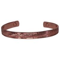 Bracelet Magnétique Cuivre - Modèle 1 Strié