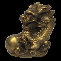 Les Signes Chinois - Dragon - Laiton Doré